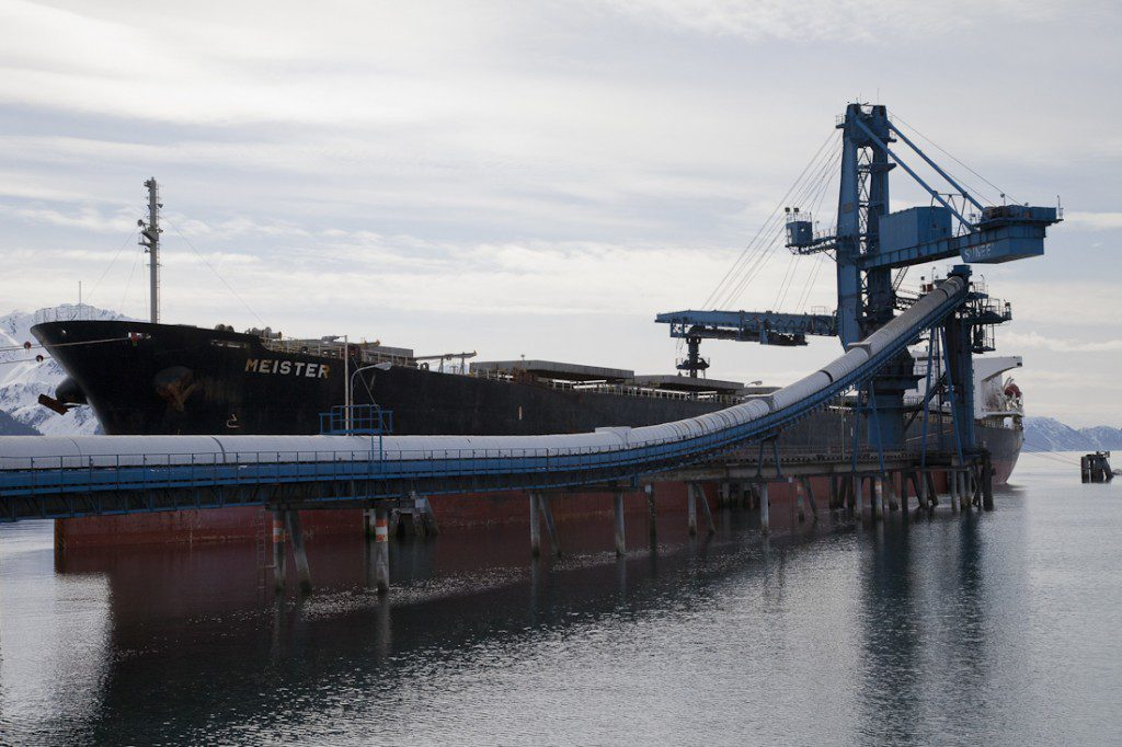 Coal tanker and conveyor and shiploading system in the Seward port: Seward Alaska Dirty Coal Case