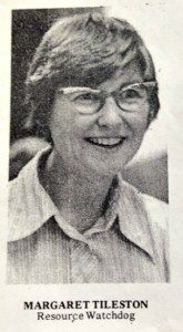 Peg, circa 1974, when she worked to establish Trustees for Alaska.