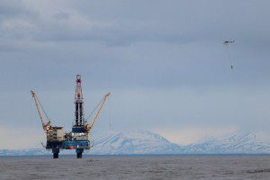 Osprey oil platform in Cook Inlet