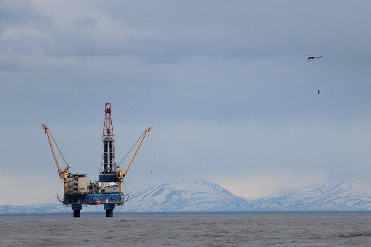 Osprey oil platform in Cook Inlet
