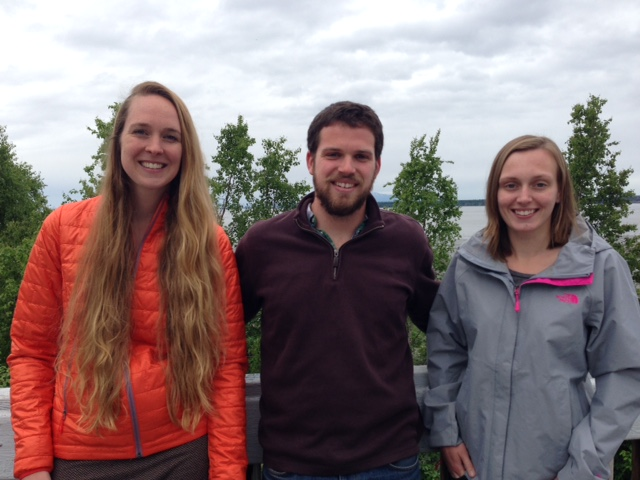 2015 summer interns left to right: Kat Fiedler, Michael Harvey, and Nicole Budine.