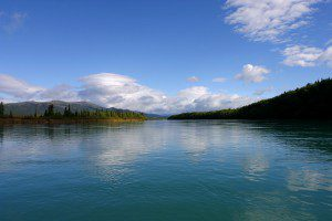 Pristine waters of the Newhalen River. Over 99% of Alaska's waters have exceptional water quality. Photo courtesy of Erin McKittrick, Ground Truth Trekking.