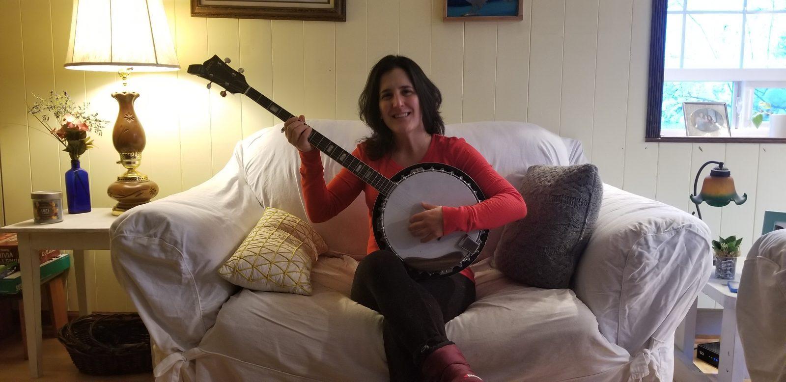 Bridgett with banjo!