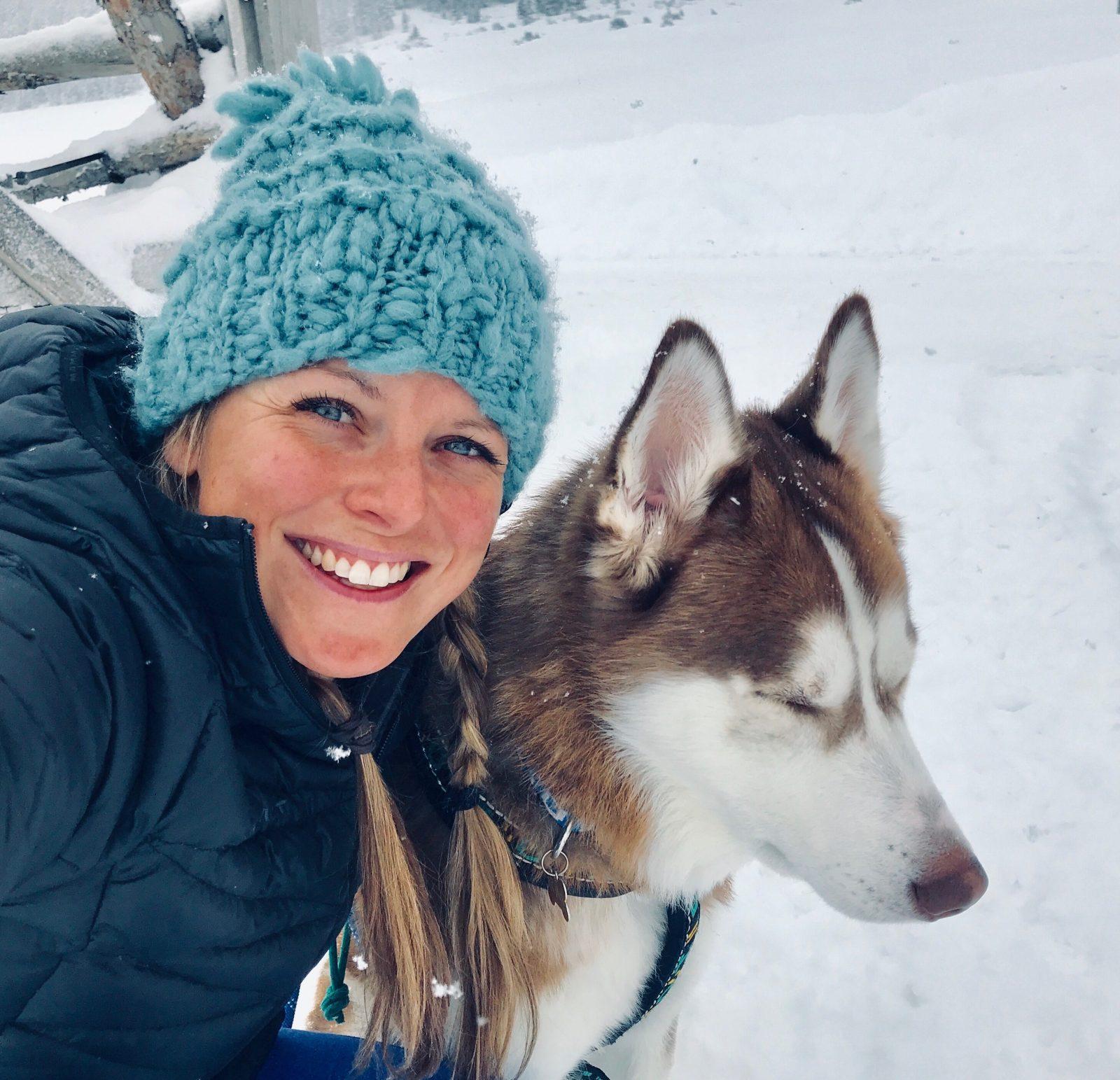 Woman and dog!