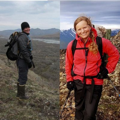 Brook in the Arctic Refuge, Katie in the mountains. The summer of 2020 they celebrated 10 years with Trustees